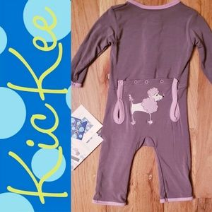 NWT KicKee Pants Poodle Longall/ Coverall Romper